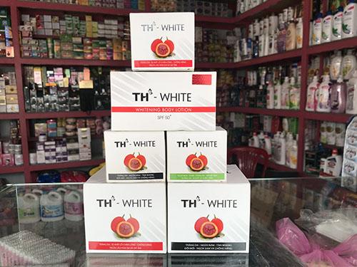 bộ sản phẩm dưỡng da TH White