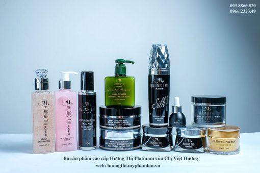 Bộ sản phẩm cao cấp Hương Thị Platinum của Chị Việt Hương