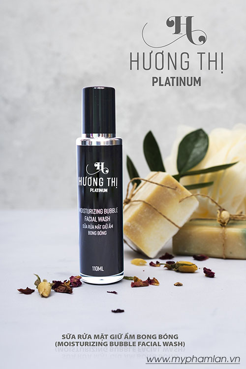 Hương Thị Platinum sữa rửa mặt bong bóng