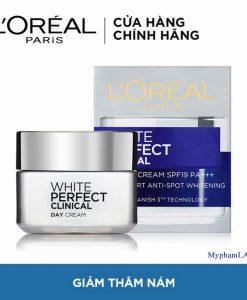 Loreal-White-perfect-Clinical-50ml-kem-giam-tham-nam-duong-trang-min-ban-ngay