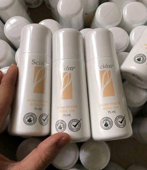 Scion Nuskin pure white roll on - Lăn khử mùi trằng da 75ml-2