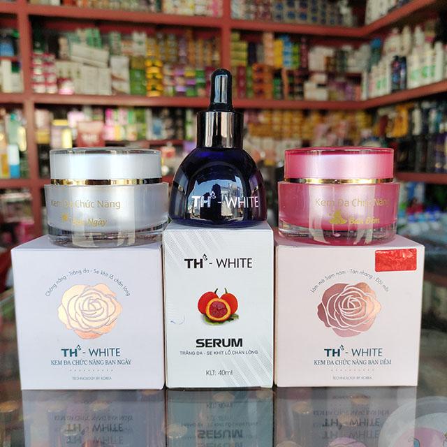 TH - White Combo bộ 3 Serum - Kem Dưỡng Da Ngày Đêm